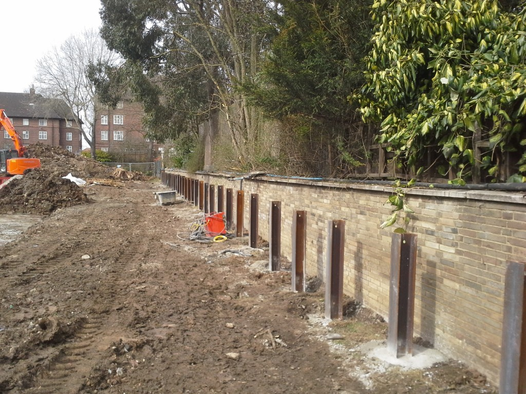 King Post Retaining Walls Advanced Mini Piling Systems