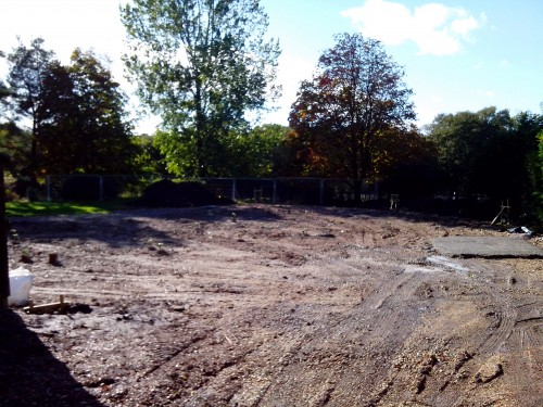 Cleared and demobbed site New build New Forest