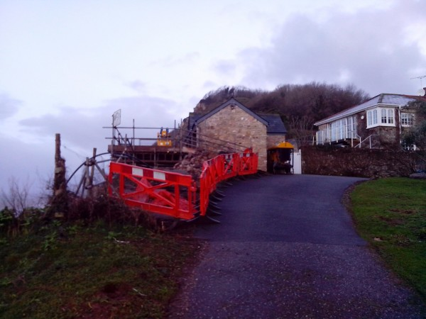 Site clean, Safe and tidy, Branscombe, Devon.