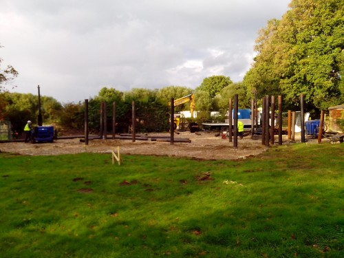 Start of piling New build Forest