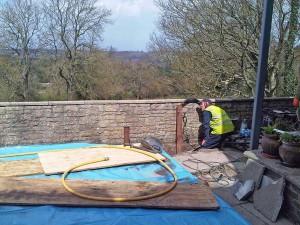 Grundomat driven piles for swimming pool canopy - Bristol